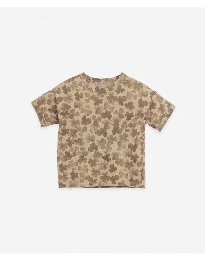 PLAY UP - T shirt with Clover print