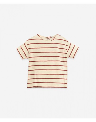 PLAY UP - T shirt with stripes - Botany