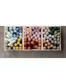 RUSTIK LYS - Set van 6 cadeau kaarsjes 2,1 x 12 cm - thijm