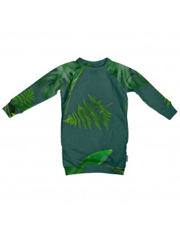 SNURK - Sweater Dress kids Green forest *LAATSTE MAAT 92*