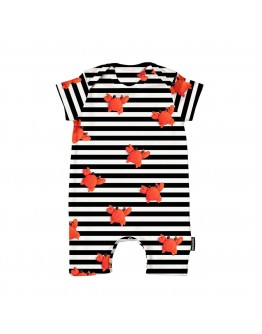 SNURK - Baby Playsuit Clay Crab