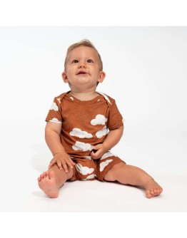 SNURK - Baby Playsuit Cloud 9 Rusty Brown