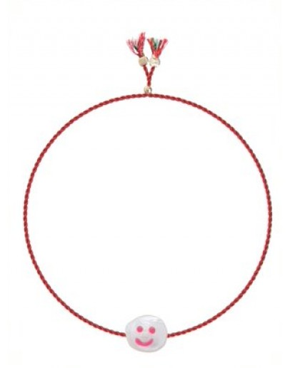 SORBET ISLAND - Armband Painted freshwater pearl - Happy face