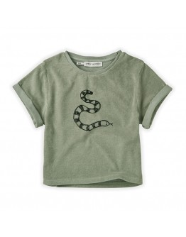 SPROET & SPROUT - Sweat T shirt Terry Snake