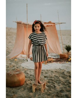 SPROET & SPROUT - Skater dress Painted Stripe
