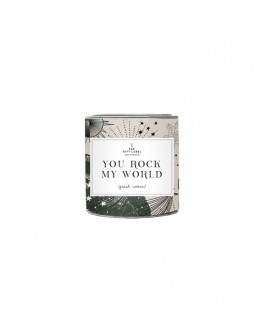 THE GIFT LABEL - Candle small - YOU ROCK MY WORLD - fresh cotton