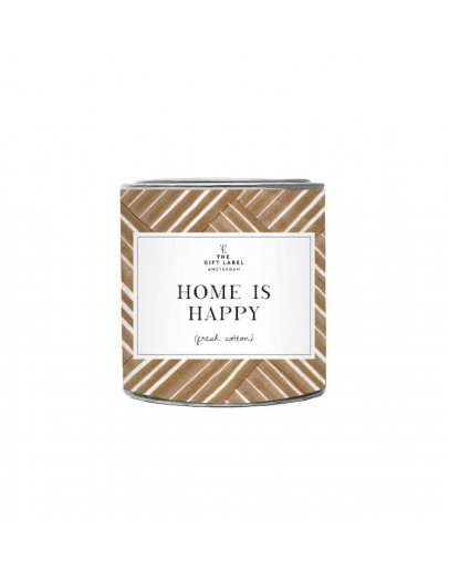 THE GIFT LABEL - Candle small - HOME IS HAPPY - fresh cotton