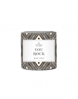 THE GIFT LABEL - Candle small - YOU ROCK - fresh cotton